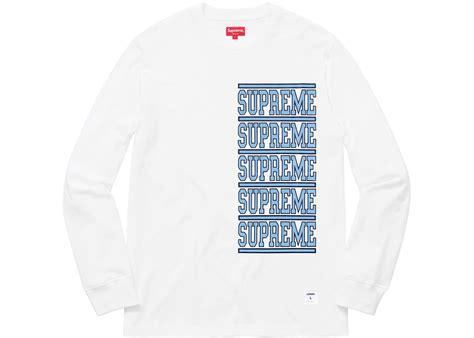 Supreme Longsleeve supreme stacked sleeve top white summer 2018