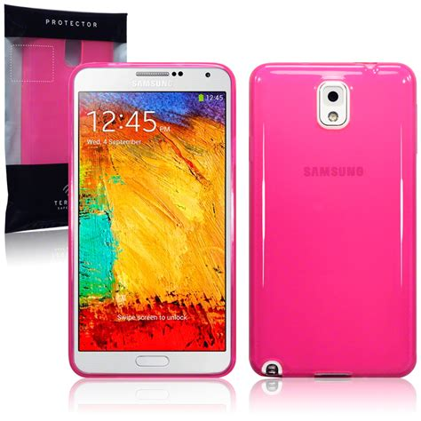 Soft Jelly Fdt Samsung Galaxy Note 3 N9000 Pink pink tpu gel jelly cover for samsung galaxy note
