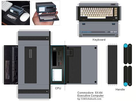 Laptop Papercraft - how to build your own paper commodore sx 64 bit rebels