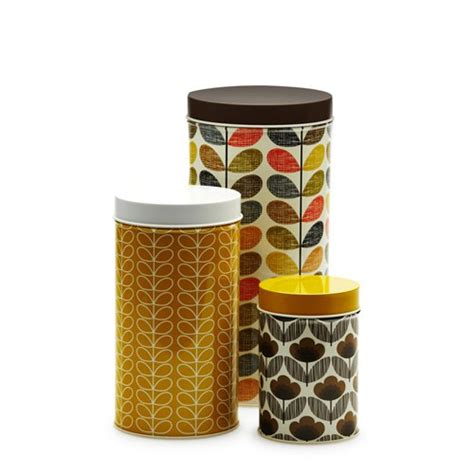 yellow kitchen storage jars orla kiely canisters 3pc brown yellow on sale now