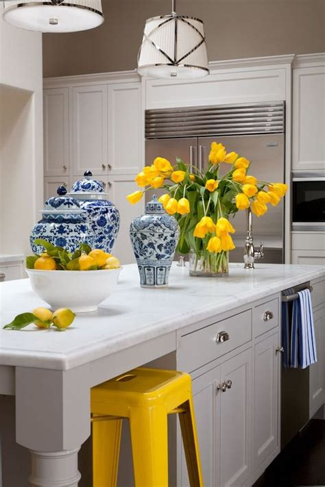 blue and yellow home decor how to decorate the kitchen using yellow accents