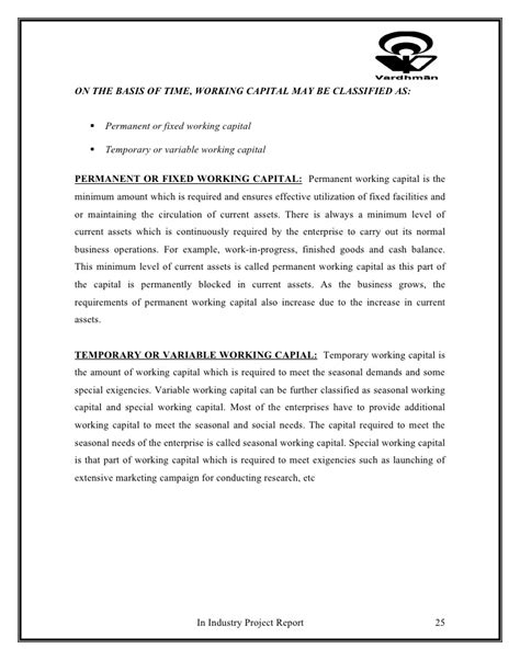 Letter Of Credit Utilization Project On Letter Of Credit And Working Capital