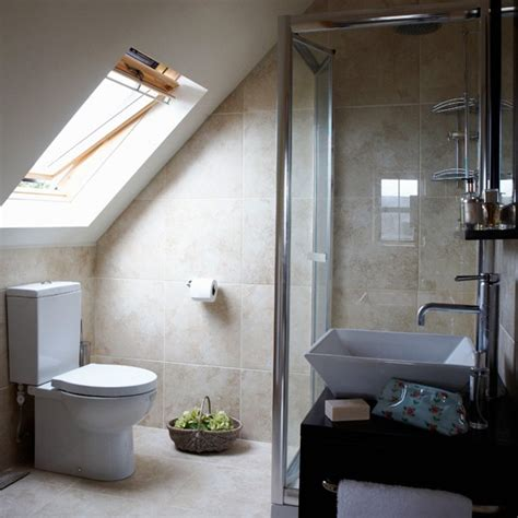 small attic bathroom ideas attic en suite bathroom housetohome co uk