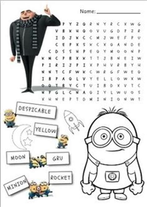minions free printable activities and 1000 images about minion birthday on