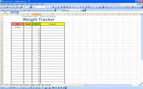 Excel Templates Excel Spreadsheets Weight Loss Tracking Spreadsheet Template