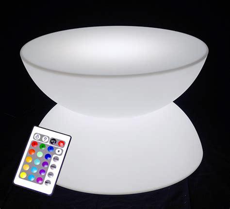 Lu Led Sorot Mobil table basse lumineuse led d80 cm ronde ext 233 rieure sans fil