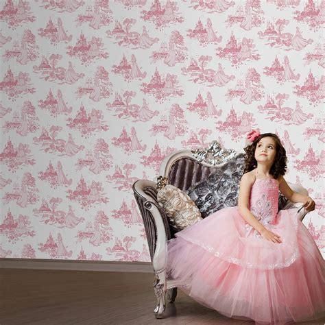 disney toile wallpaper graham brown disney princess toile pink childrens kids