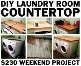 Flooring Ideas For Bathroom diy laundry room countertop over washer dryer