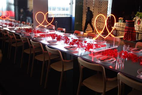 Wonderful Dining Table Setting Ideas #5: Neon-aids-and-red-petals-on-table-decor.jpg
