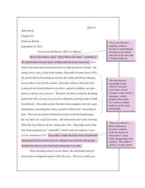 Argumentative Essay On Childhood Obesity by Fast Food Argumentative Essay Academic Ink