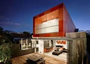 Design House Studio Victoria Striking Orange Box House South Yarra Interior Design