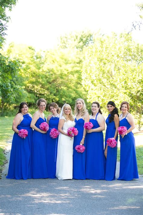 pink and blue wedding colors best 25 royal blue bridesmaids ideas on royal