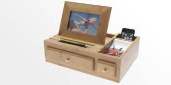Bathroom Organiser Desk Organiser With Photo Frame Bamboo Stationary Box