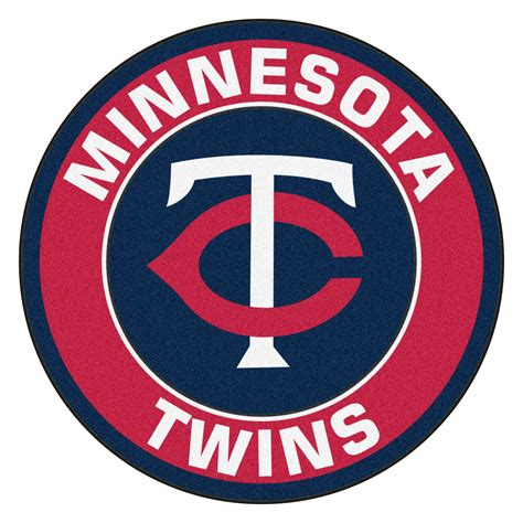 Funny Welcome Mats minnesota twins logo roundel mat 27 quot round area rug