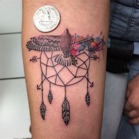dream catcher tattoo eagle bird tattoo watercolor dream catcher hawk eagle fly