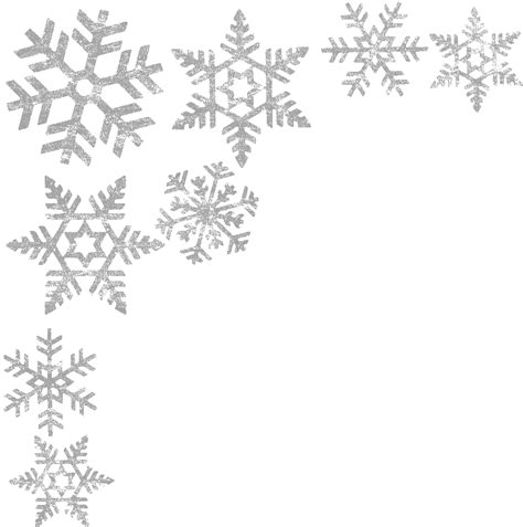 snow pattern png corner silver snowflake transparent png stickpng