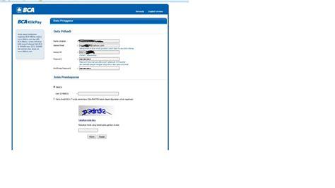 bca user id cara aktivasi bca klikpay saran2 com
