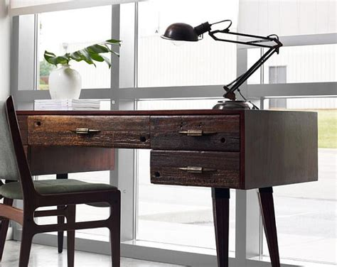 Home Office Desk Wood Writing Desk Designs To Individualize Your Working Space
