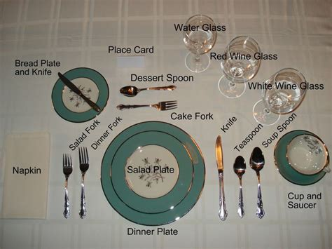 formal table settings for the home