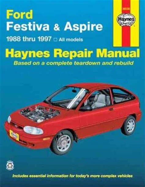 all car manuals free 1997 ford aspire parking system ford festiva aspire 1988 1997 haynes service repair manual sagin workshop car manuals repair