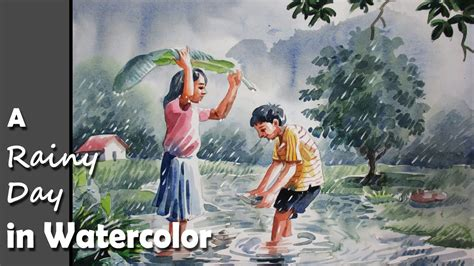 painting for s day how to paint a rainy day in watercolor