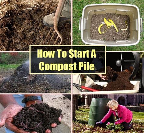 how to start a compost pile diycozyworld home