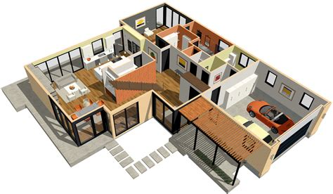 Single Story Open Concept Floor Plans by Home Designer Architectural