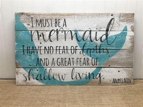 quot mermaid quot custom wooden sign coastal home decor beach 25 unique mermaid wall art ideas on pinterest mermaid