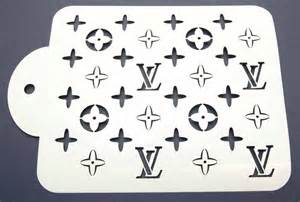 designer louis vuitton cake decorating stencil www lollipopcakesupplies com au templates