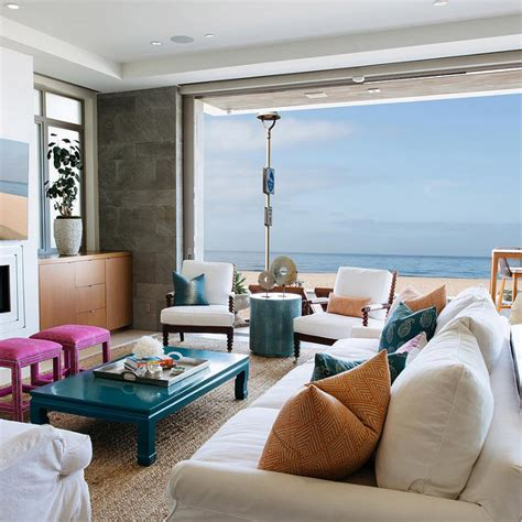 california decor california beach house living room with clean lines pops