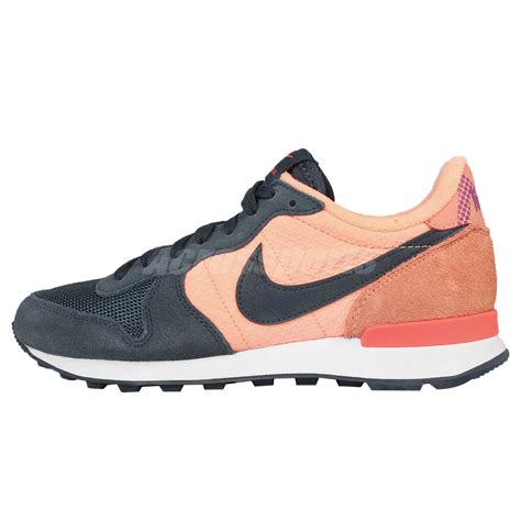 orange womens nike shoes wmns nike internationalist print navy orange womens