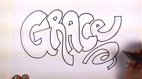 Drawing Names by How To Draw Your Name Cool Letters Grace In Graffiti