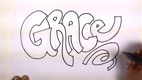 draw   cool letters grace  graffiti