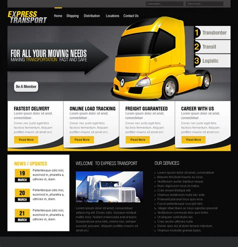 transportation templates web templates transportation by netspy9286 on deviantart