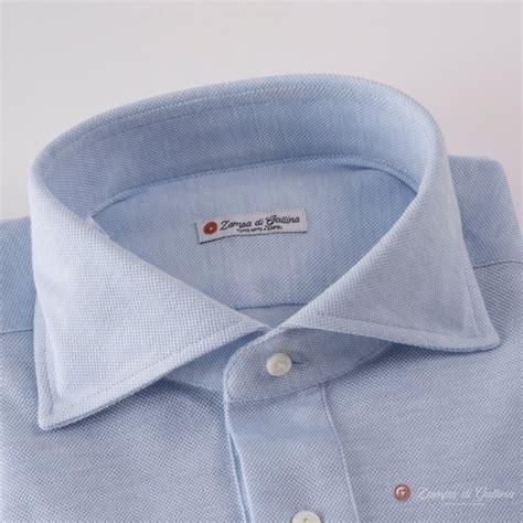 light blue sleeve polo sleeve light blue polo shirt in mercerized cotton