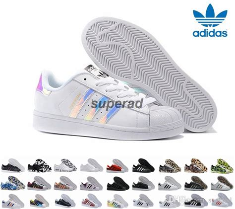 adidas originals superstar white hologram iridescent junior superstars sneakers