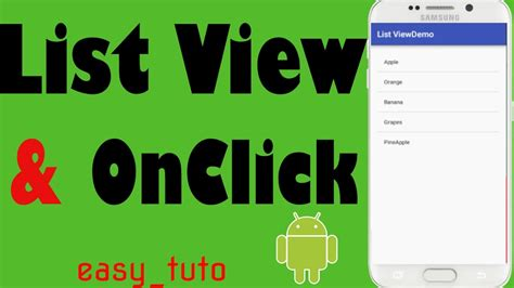 android studio onclick tutorial listview and onclick items android studio tutorial