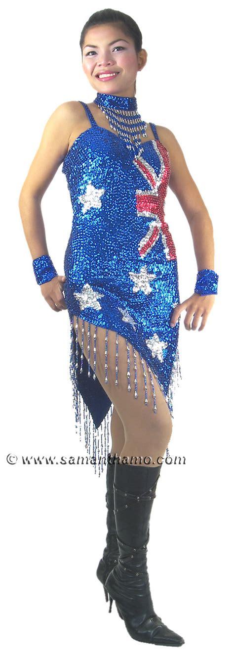 Australian Drag Stalks Michael Jackson by Rmd706 Sparkling Sequin Australian Flag Dress