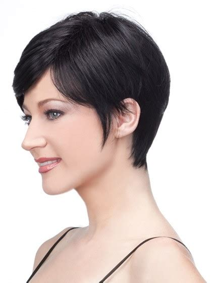 itip extensions in pixie human hair natural straight pixie cropped wig white short