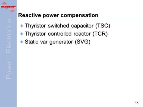 induction generator reactive power compensation application of power electronics ppt