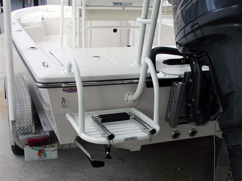swim ladder for jon boat custom dive swim platforms by action welding cape coral