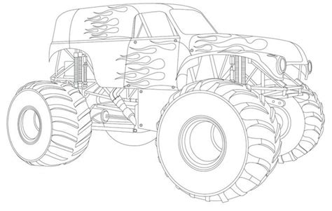 kids monster truck free coloring pages of monster trucks murderthestout