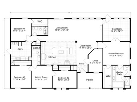 home floor plans 2500 sq ft 2500 sq ft modular house plans single story