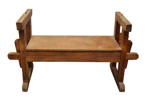 vintage wooden bench vintage wooden bench with sides olde good things