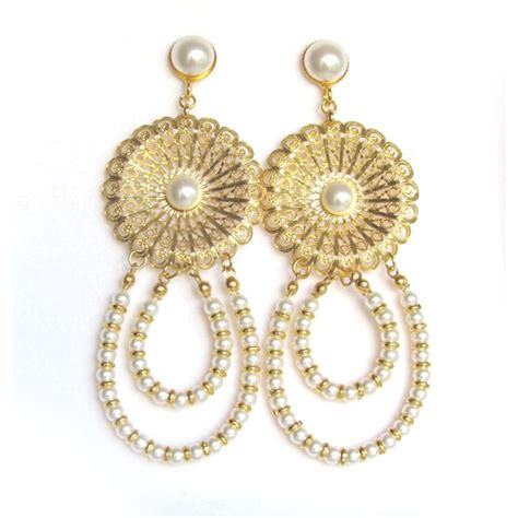 Large Gold Chandelier Earrings Big Chandelier Earrings Big Gold Chandelier Earrings