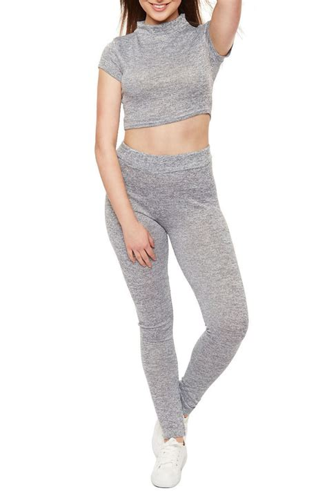 Legging Polos T3009 1 womens cropped top pocket legging polo neck knitted loungewear tracksuit ebay