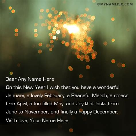 how to write new year greeting write your name on new year wishes for anyone picture in beautiful style best app to write