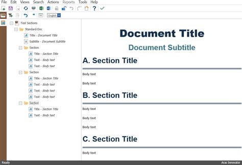 document sections styling aras tech docs numbering content aras open plm