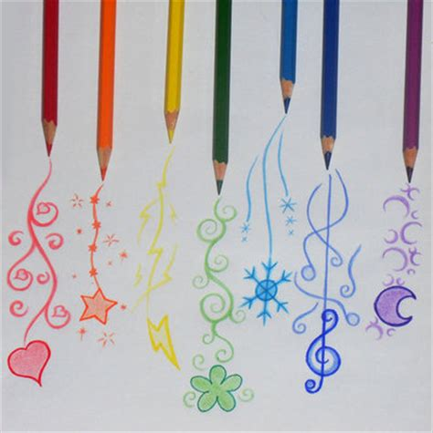 cute colors blue clover color colours cute drawing image 38712