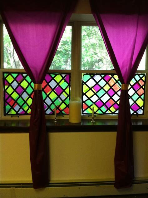How To Make A Paper Stained Glass Window - tissue paper paper and stained glass windows on
